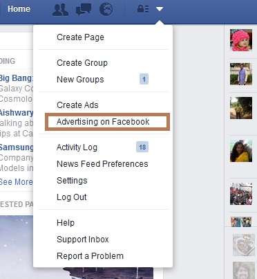 social media marketing -facebook ad
