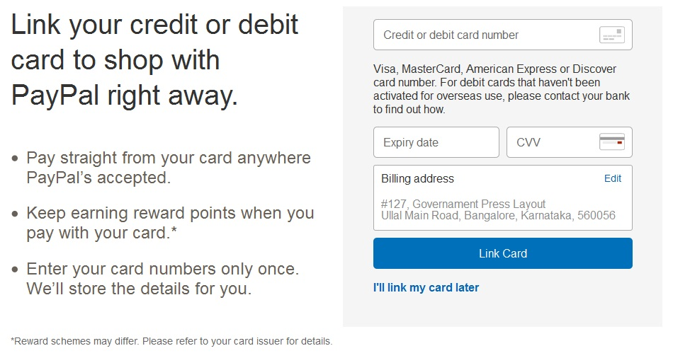 Paypal-Credit-card-details