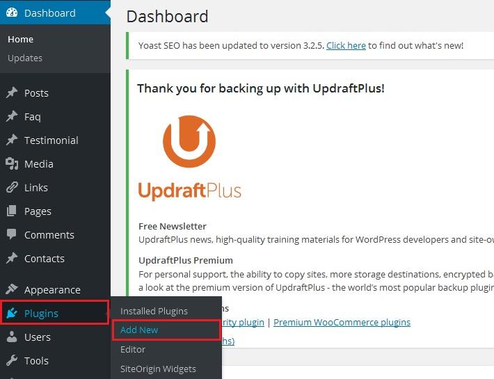 WordPress contact form Plugin - Add new