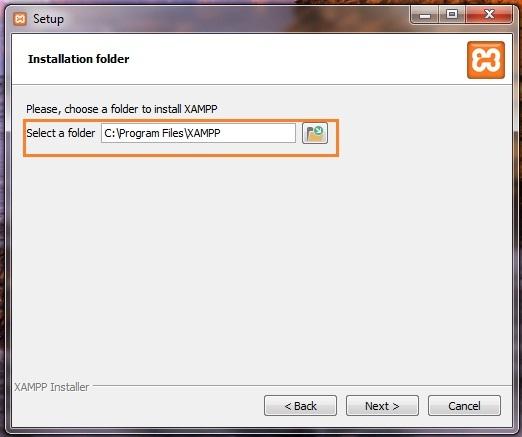 XAMPP - installation folder