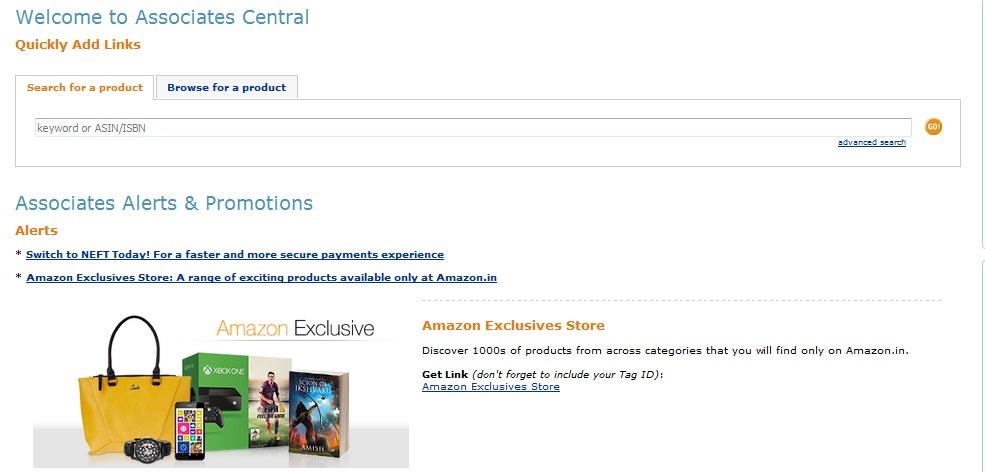amazon affiliate associate