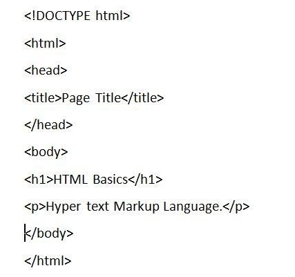 basic HTML Example