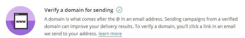MailChimp Verify domain