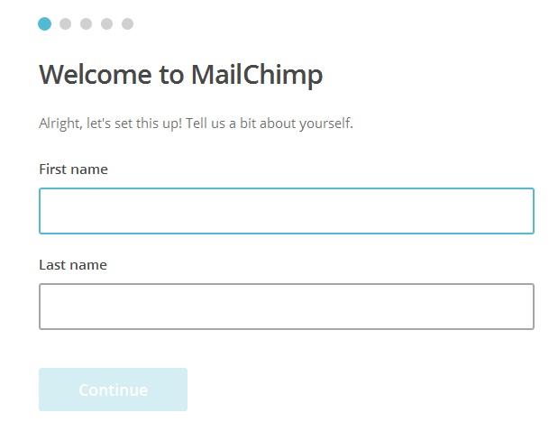 Mailchimp account details