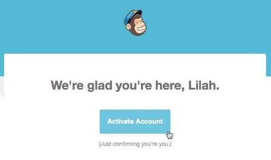 Mailchimp activate account