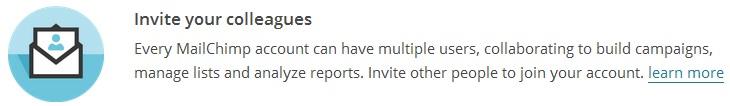 Mailchimp invite users