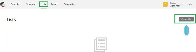 create list in mailchimp