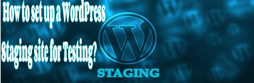 How to set up a WordPress staging site for testing?