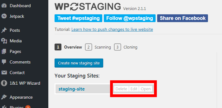 A WordPress Staging Site