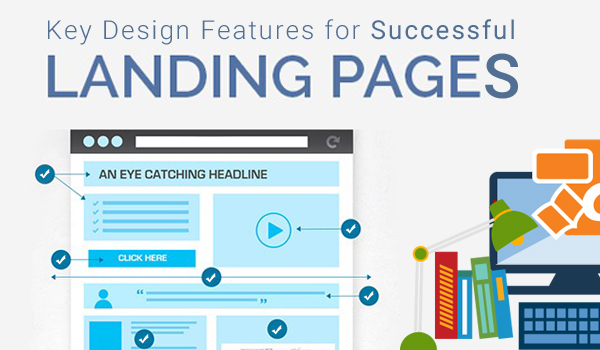 Key features that each landing page