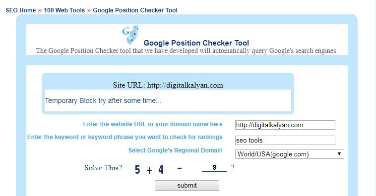google position rank checker